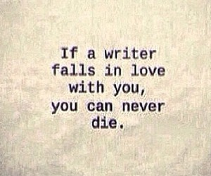 quote, writer, and love image