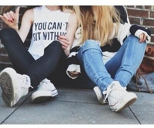 girl, friends, and converse image