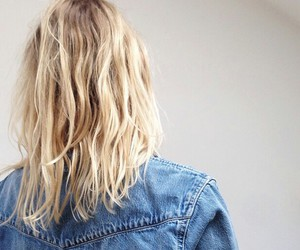 hair, blonde, and tumblr image