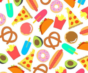 food, wallpaper, and pizza image