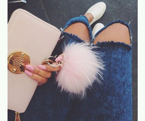 fashion, pink, and jeans image