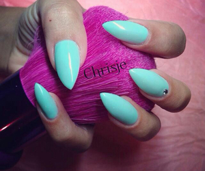 diamonds, mint, and nails image