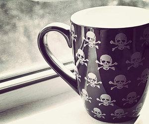 skull, cup, and mug image
