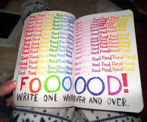 food, wreck this journal, and colors image