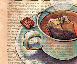 tea, book, and art image