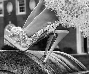 heels, shoes, and wedding image
