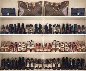 fashion, closet, and shoes image