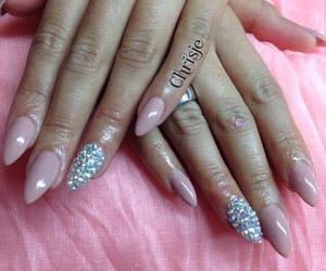 diamonds, nails, and nailart image