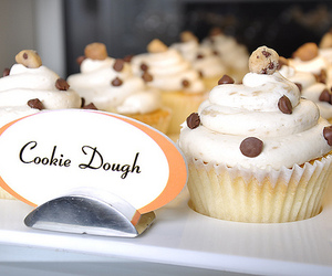 cake, delicious, and cookie dough image