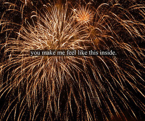 fireworks, love, and text image