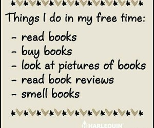 book, read, and free time image