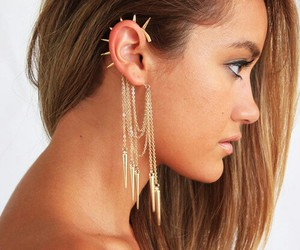 beauty, fashion, and ear rings image
