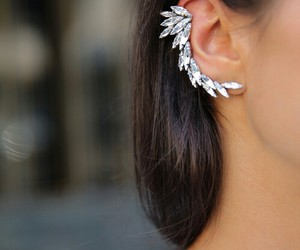 beauty, fashion girl, and ear rings image