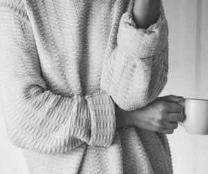 black and white, sweater weather, and a image