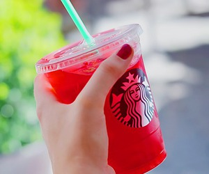 starbucks, red, and drink image