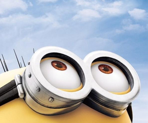 minions, sky, and yellow image