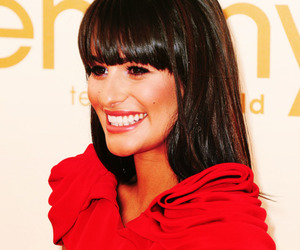 glee, lea michele, and emmys image