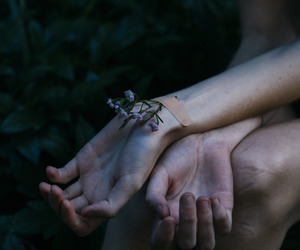 arms, flowers, and fingers image