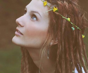 girl, dreadlocks, and dreads image