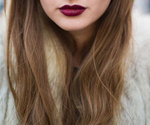 lips, girl, and hair image