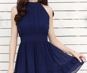 dress, outfits, and blue image