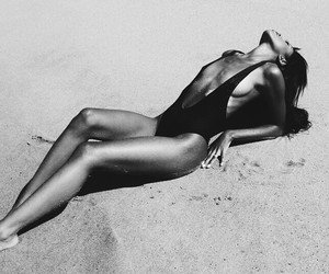 beach, summer, and model image
