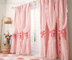 pink and curtains image