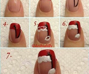 christmas, nail, and nail polish image
