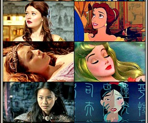 cinderella, once upon a time, and snow white image