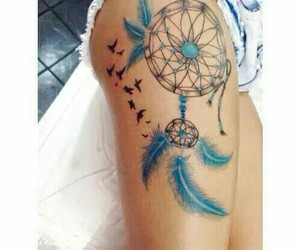 tattoo, blue, and girl image