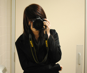 girl, camera, and nikon image