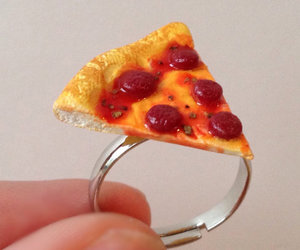 pizza, ring, and food jewelry image