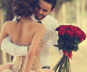 love, dress, and rose image