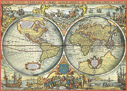 Vintage Map Of The World Google Images On We Heart It