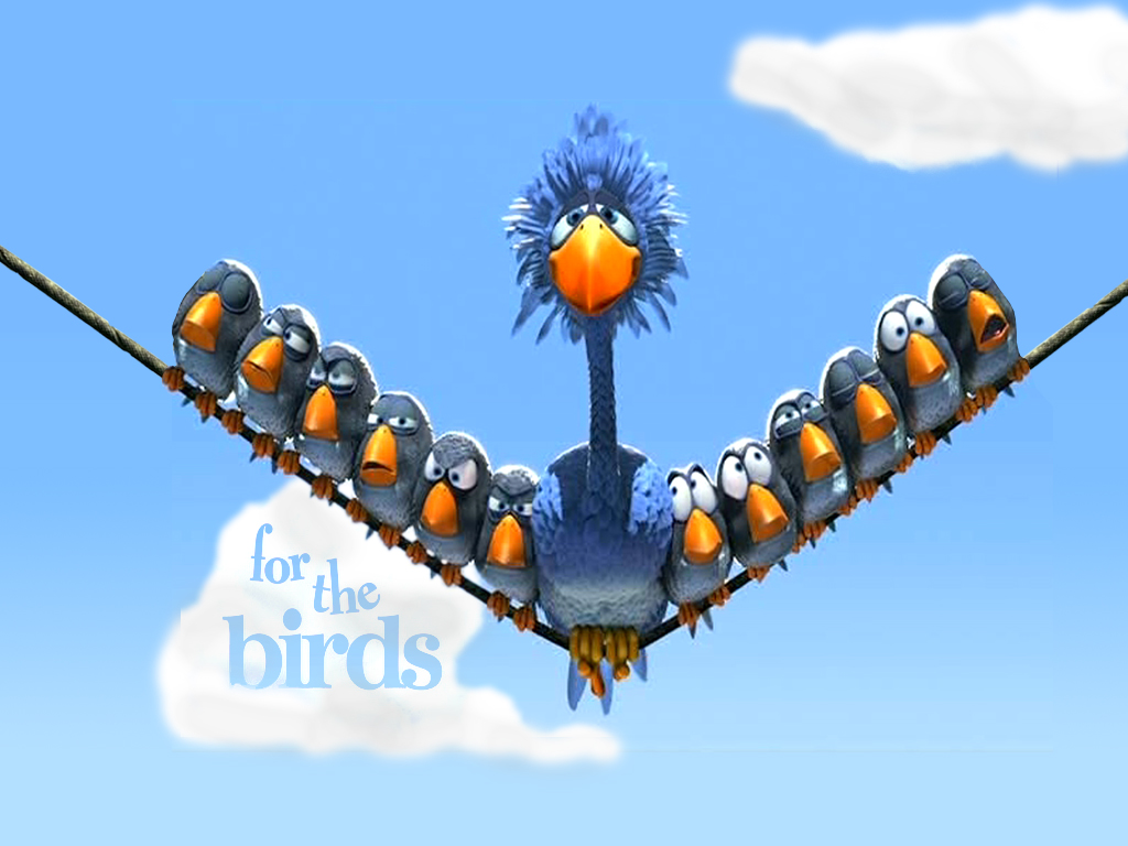 My Free Wallpapers Cartoons Wallpaper For The Birds