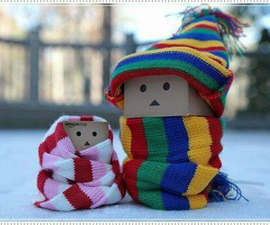 winter, danbo, and scarf image