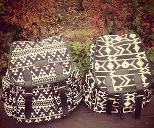 backpack, black, and white image
