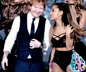 ariana grande and ed sheeran image