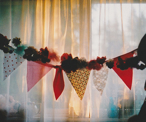 bunting, photography, and vintage image