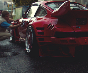 cars, porsche, and red image