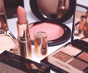 beautiful, beige, and cosmetics image