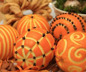 orange, christmas, and decoration image