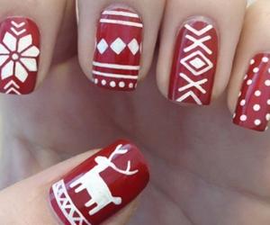 christmas, raindeer, and nail design image