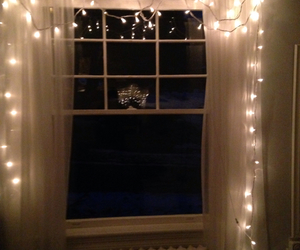 fairy lights, lights, and room image