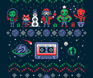 christmas and guardians of the galaxy image