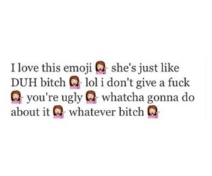 emoji, bitch, and lol image
