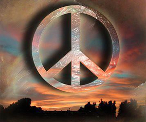 60's, peace and love, and sign image