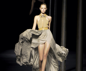 black and white, catwalk, and haute couture image