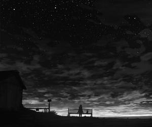 stars, anime, and night image