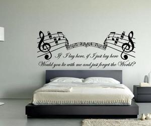 bed, music, and sleep image